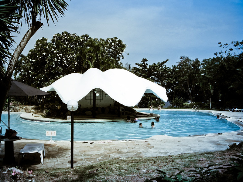Pool area at Portofino Resort, Mactan