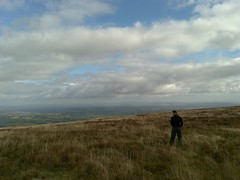 Black Mountains, Wales: Dave has a piss