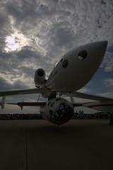 WhiteKnightOne and SpaceShipOne, on the ground. EAA Airventure, July 2005, Oshkosh, WI. Credit Jim Koepnick