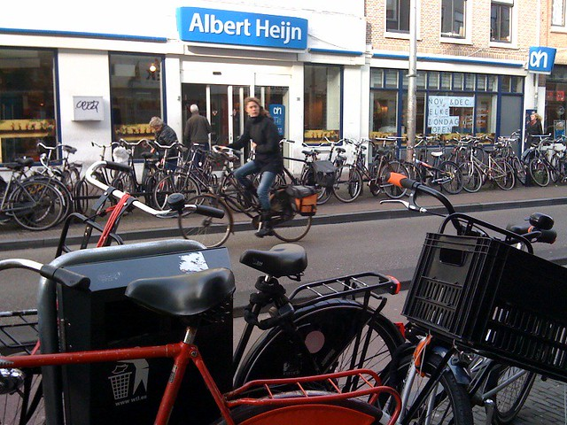 Utrecht Albert Heijn bike parking