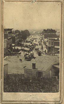 Broadway, Council Bluffs (Iowa), 1864.