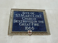 Photo of St. Mary Cole, London blue plaque