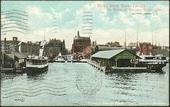 Yonge Street dock, Toronto, on route of Niagara River Line (ca. 1910)