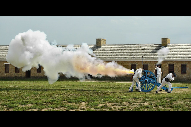 minnesota fort snelling cannon shot