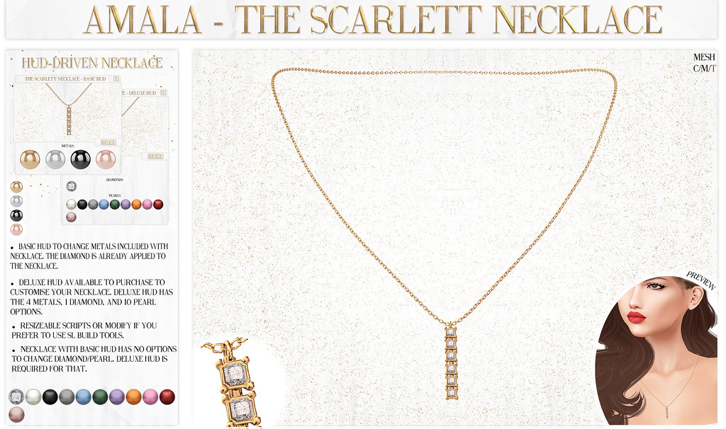 Amala – The Scarlett Necklace for Fifty Linden Friday