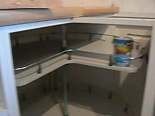 Kitchen Carousels and Magic Corners for cabinets