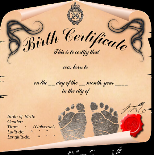 NEW LONG FORM FOR BIRTH CERTIFICATE IN ONTARIO