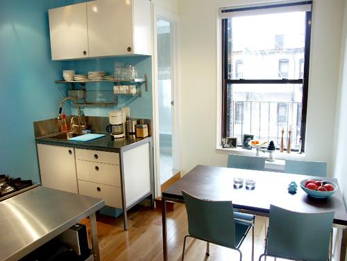 Ikea Galant White Glass Desk ~ Jessica's blue Ikea kitchen 3  a photo on Flickriver