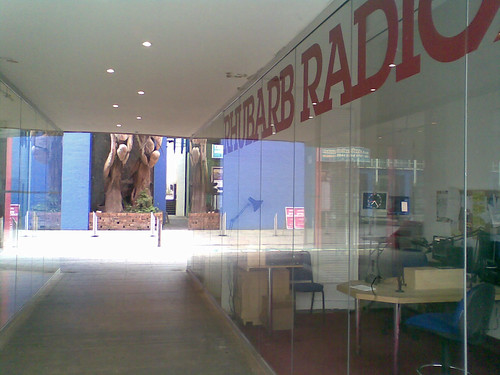 Rhubarb Radio studio in Custard Factory, Birmingham