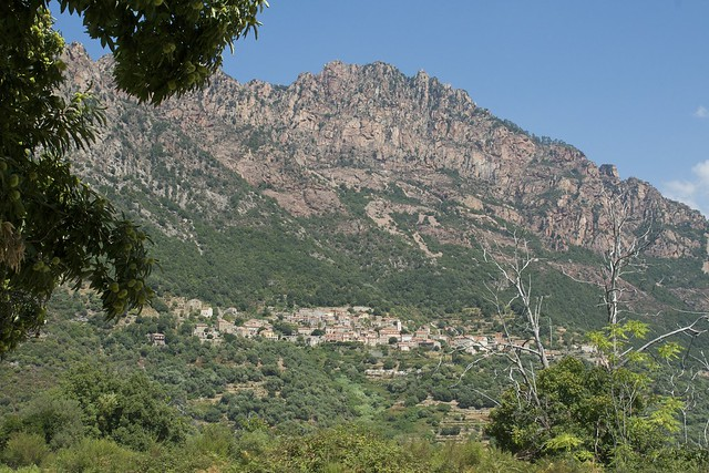 Typical Corsican Village in the Mountain