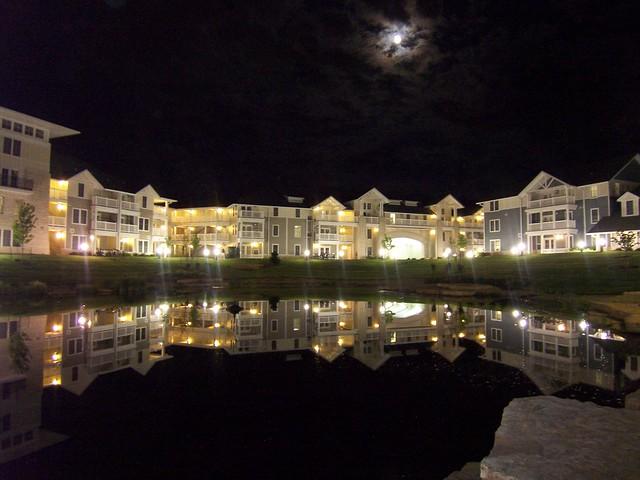 a nighttime stroll