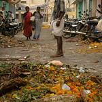 Flower Market Trash Heap: Madurai, India
