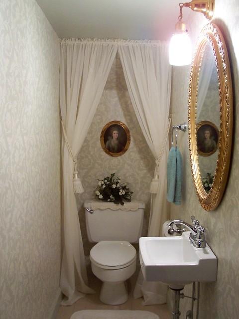 Half bath under stairs flickr photo sharing for Bathroom under stairs