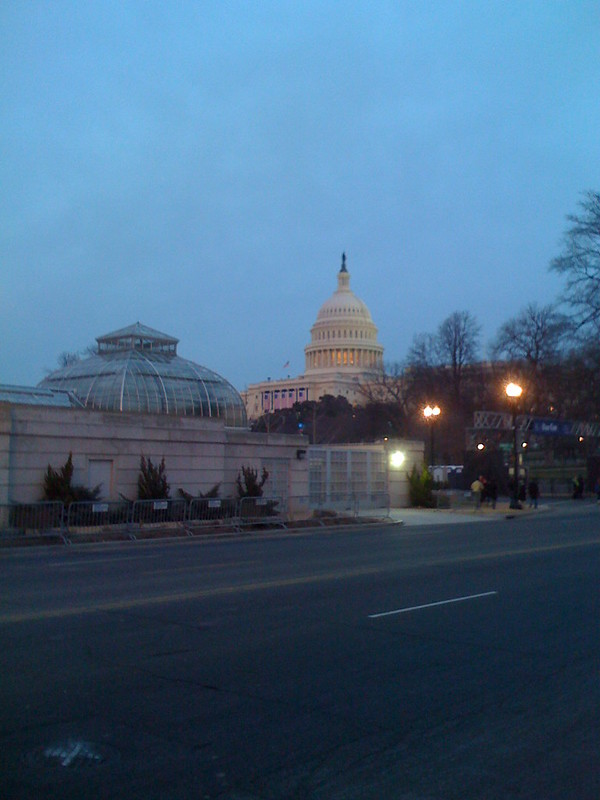 US Botanical garden and US Capitol