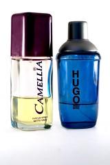 perfume, violet, glass bottle, cobalt blue, bottle, azure,