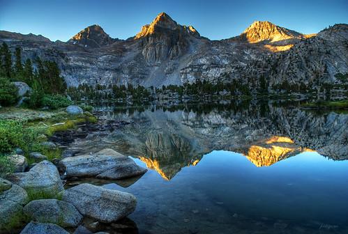 Sunrise Reflections At Rae Lakes Kings Canyon National P