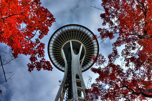 Fall at the Space Needle HDR #5435#2