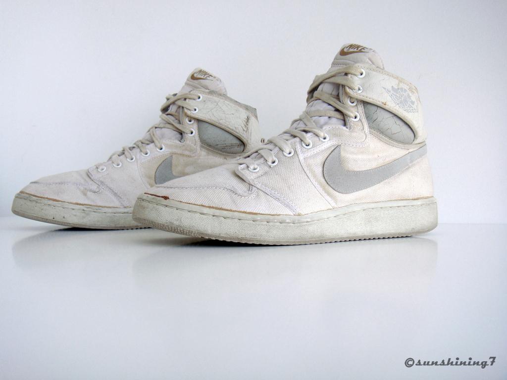 hot sales 0c3bc 47a8a Sunshining7 - Nike Air Jordan I (1) - 1985 - AJKO white Grey