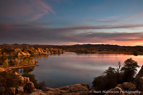 sunset arizona prescott prescottarizona willowlake