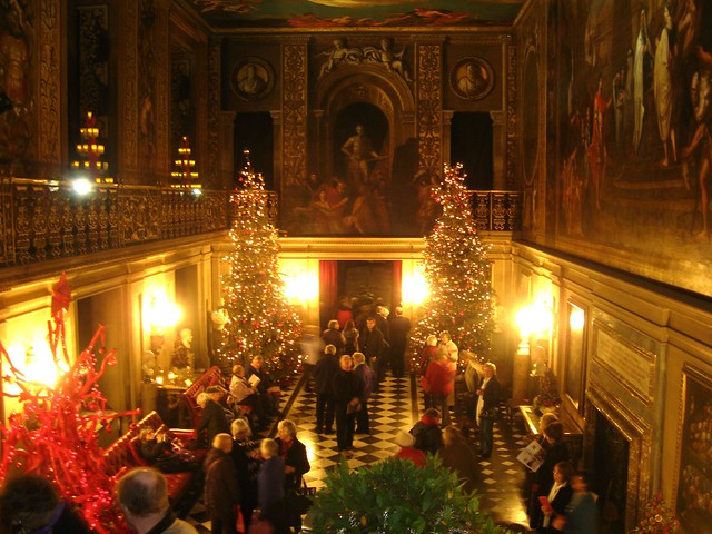 Seasonal Christmas Decorations In The Painted Hall