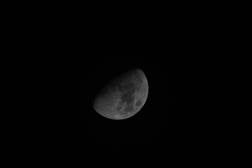 Tonight's moon.