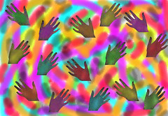 Colorful Hands Background ~ Free