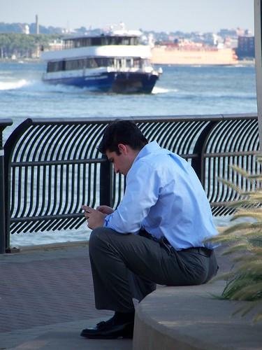 Lunch Break by the Hudson
