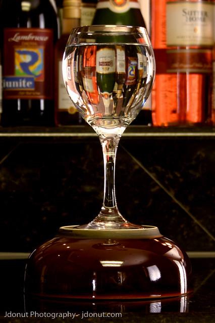 upside down wine glass bottles | Flickr - Photo Sharing!