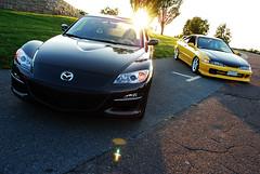 mazda3(0.0), mazdaspeed3(0.0), automobile(1.0), automotive exterior(1.0), wheel(1.0), vehicle(1.0), automotive design(1.0), mazda(1.0), bumper(1.0), land vehicle(1.0), mazda rx-8(1.0), supercar(1.0), sports car(1.0),