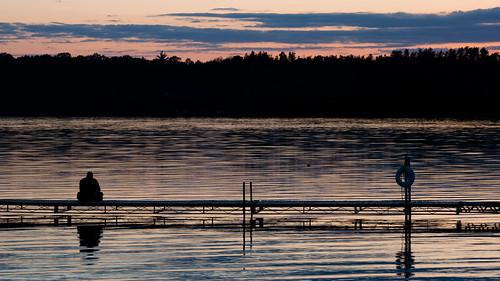 sunset wisconsin dock meditate ben mika lakepokegama minong birchtrail relaxtakeiteasy