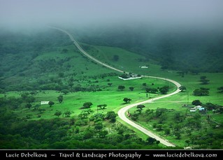 Oman - Road through Green Paradise of Salalah Mountains