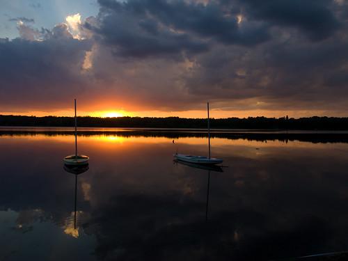 sunset camp lake wisconsin trail birch minong pokagema