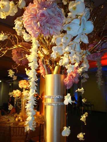 Pink Centerpiece Joint : Pink and champagne in the clouds events los angeles