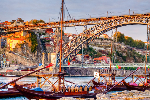 Porto Bridge and Boats