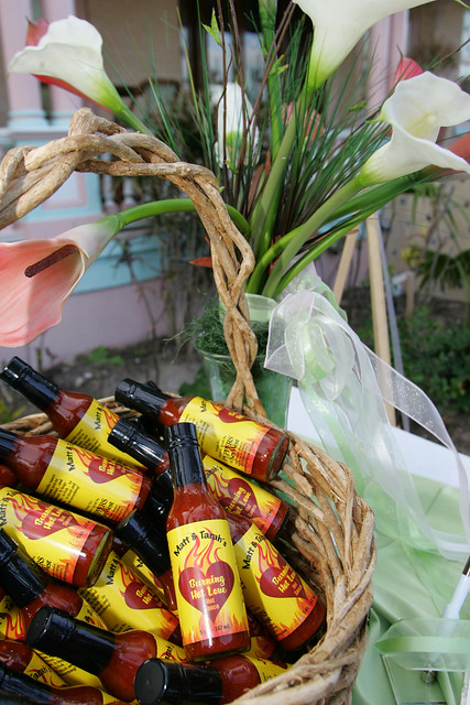 Hot Spicy a clever wedding favor Custom Hot Sauce from Key West