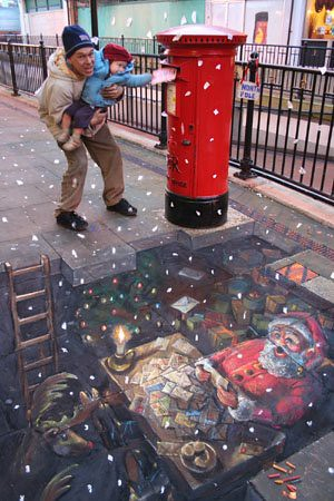 3D chalk drawings 9