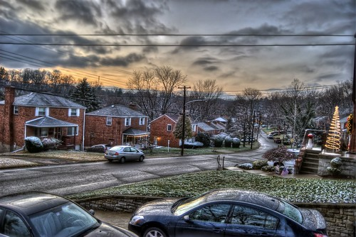 trees winter sunset sky snow cold clouds photoshop nikon dusk tripod nikkor snowfall hdr highdynamicrange cs4 photomatix d40 tonemapped d40x