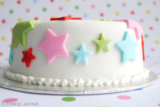 Close up of Star cake