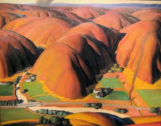 Valley Farms - 1934 New Deal Painting at Smithsonian American Art Museum
