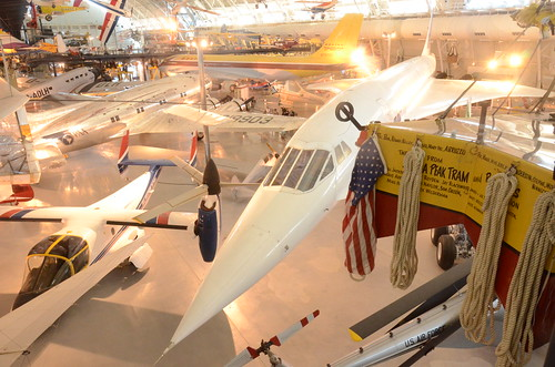 5778565005 502407fa13 Steven F. Udvar Hazy Center: Air France Concorde, with Bell XV 15 TRRA Tilt Rotor test plane in foreground