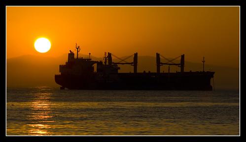 sunset sea orange sun water canon eos ship gibraltar atlanticocean bunkering davidreyes 1000d mygearandme mygearandmepremium mygearandmebronze mygearandmesilver mygearandmegold mygearandmeplatinum mygearandmediamond ringexcellence positivelyexposed