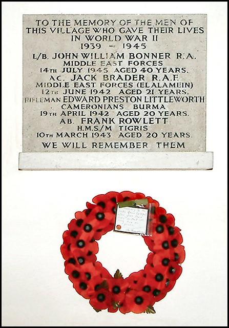 War Memorial, St. Peter & St. Paul's, Belchford, Lincolnshire