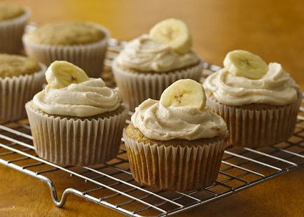 Banana Cupcakes with Browned Butter Frosting Recipe