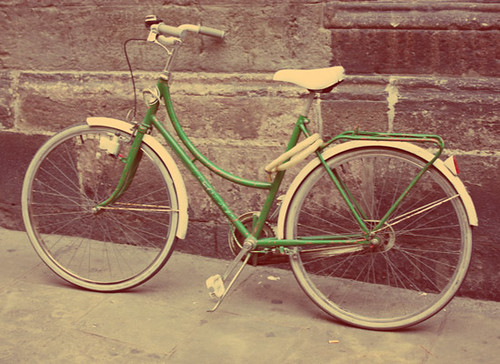 Bikes Vintage Vintage Bicycle on a