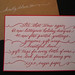 Sugar Paper Holiday Mailer by Lisa Holtzman Calligraphy
