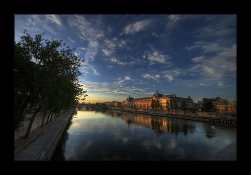 paris france seine sunrise postcard explore bp hdr bing muséedorsay 巴黎 75paris explore20 baladesparisiennes thierryreboton©