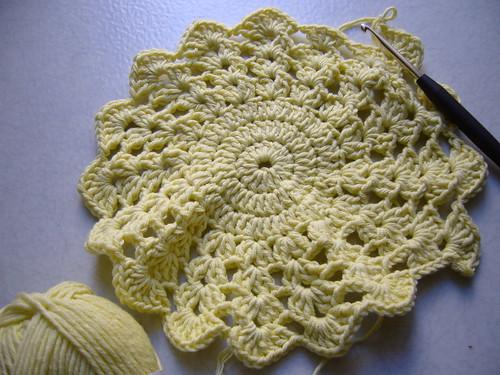 Potholder maille en l 39 air - Crochet maille en l air ...