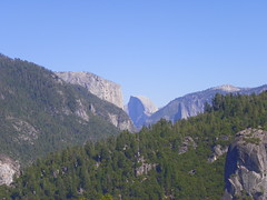 Looking out at our mission, Half Dome baby!