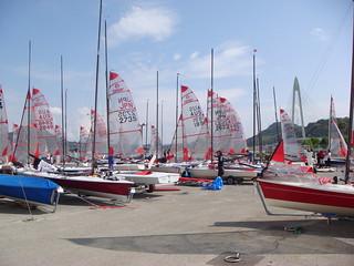 Preparing 2009 Tasar World Championship boat