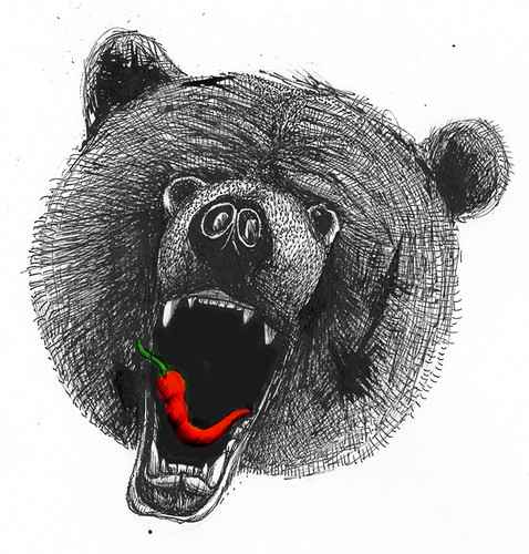 Bear Eating Chilli